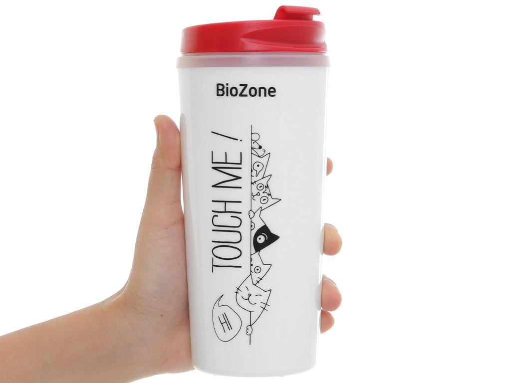 Bình giữ nhiệt nhựa 500ml Biozone trắng đỏ 7