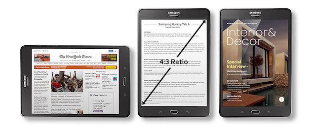 Samsung Galaxy Tab A 8.0 (2017) - Màn hình rộng hiển thị thông tin trọn vẹn