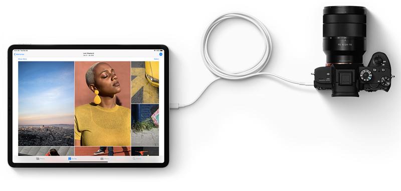 Cổng USB- Type C kết nôi đa chức năng trên Máy tính bảng iPad Pro 11 inch 256GB Wifi (2018)