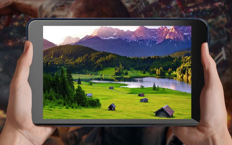 Màn hình tươi sáng trên Máy tính bảng Masstel Tab8 Plus