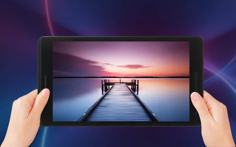 Màn hình tươi sáng trên Máy tính bảng Huawei MediaPad T3 7 (2018)