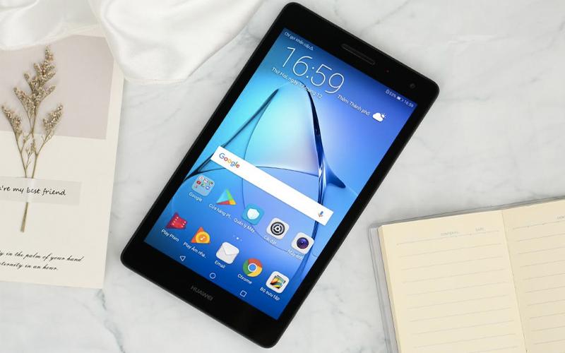 Thiết kế thanh lịch trên Máy tính bảng Huawei MediaPad T3 7 (2018)