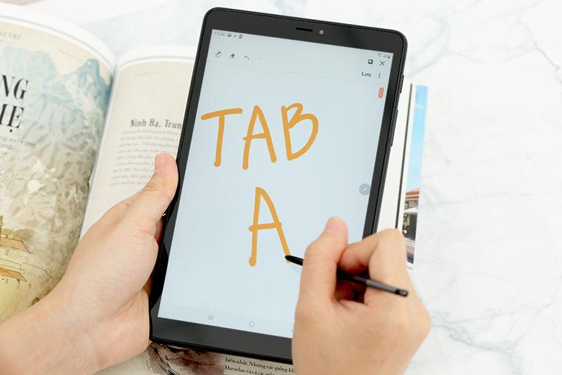 Màn hình lớn độ phân giải cao trên máy tính bảng Samsung Galaxy Tab A S Pen 8 inch 2019