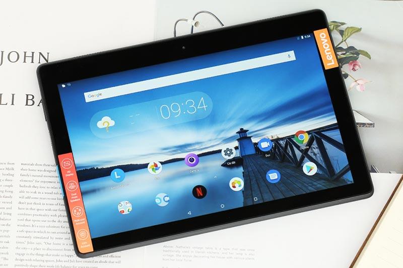 Màn hình của máy tính bảng Lenovo Tab E10 TB-X104L Đen chính hãng