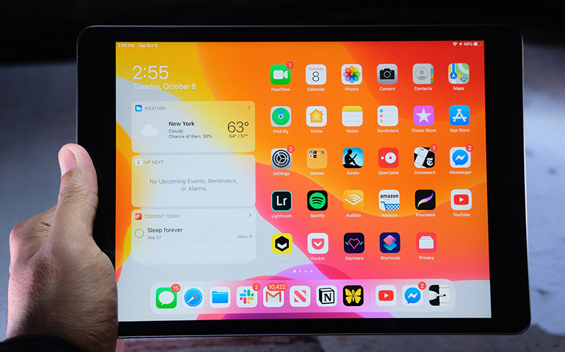 Điện thoại iPad 10.2 inch Wifi 128GB (2019) | Trải nghiệm thao tác màn hình
