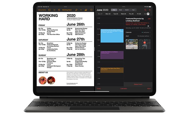 iPad Pro 12.9 2020 kết nối bàn phím