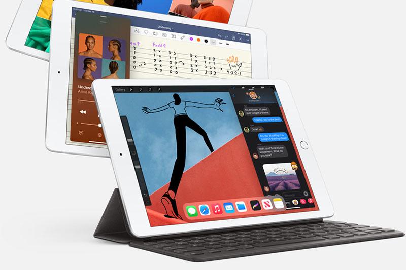 iPad 8 Wifi 128GB (2020) |  Kết nối với bàn phím Smart Keyboard