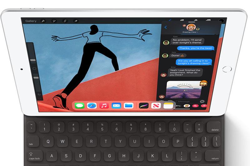 iPad 8 Wifi 128GB (2020) | Chất liệu vỏ nhôm kim loại sang trọng, cứng cáp