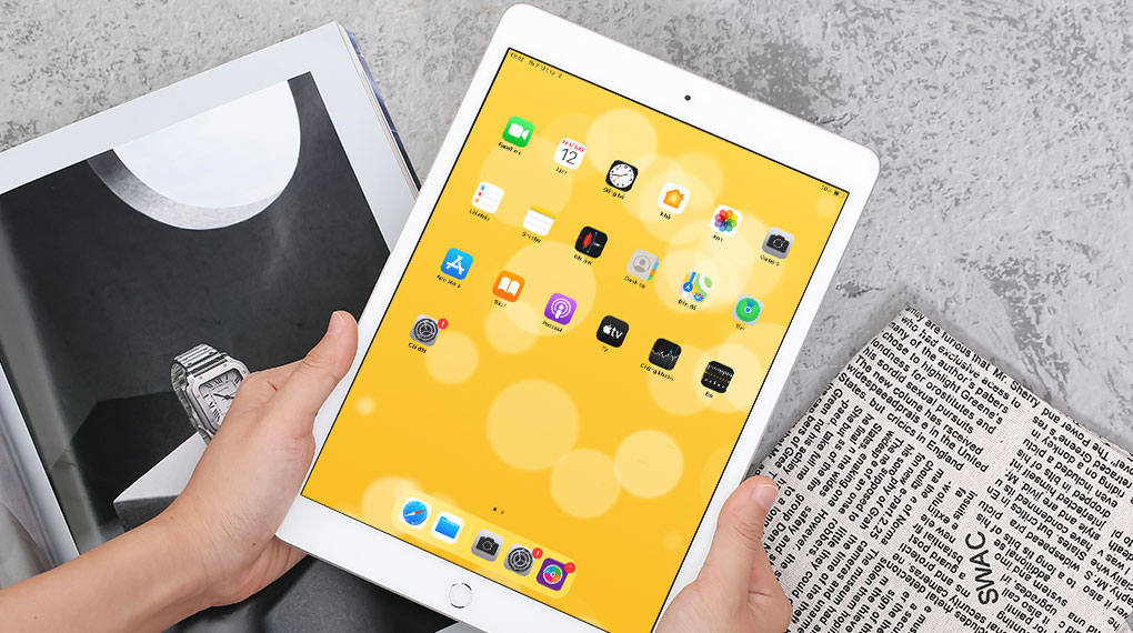iPad 8 Wifi Cellular 32GB (2020) | Thiết kế mỏng nhẹ, cầm nắm thoải mái