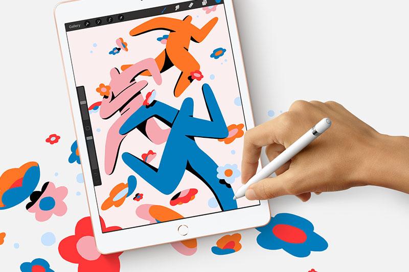 iPad 8 Wifi Cellular 128 GB | Hoạt động vô cùng mượt mà với bút Apple Pencil