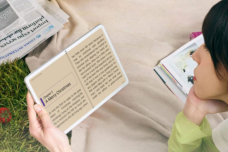 Máy tính bảng Huawei MataPad Hỗ trợ chế độ eBook cho việc đọc sách trên máy tốt hơn
