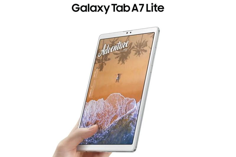 Galaxy Tab A7 Lite | Thiết kế gọn nhẹ, cầm nắm thoải mái