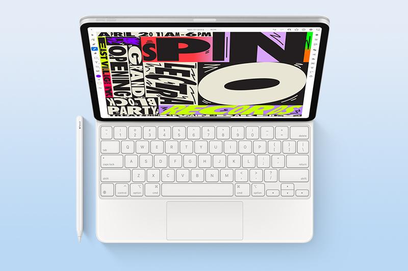 iPad Pro M1 11 inch WiFi 128GB (2021) | Tích hợp Bàn phím Magic hỗ trợ đèn nền cùng bút Apple Pencil