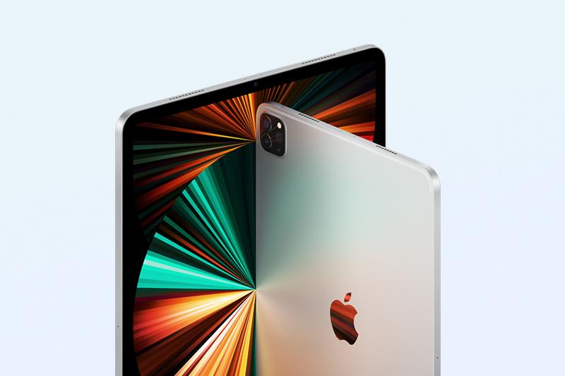 iPad Pro M1 11 inch WiFi Cellular 128GB (2021) | Camera TrueDepth 12 MP ở mặt trước hỗ trợ góc nhìn siêu rộng 122 độ kèm với tính năng Center Stage