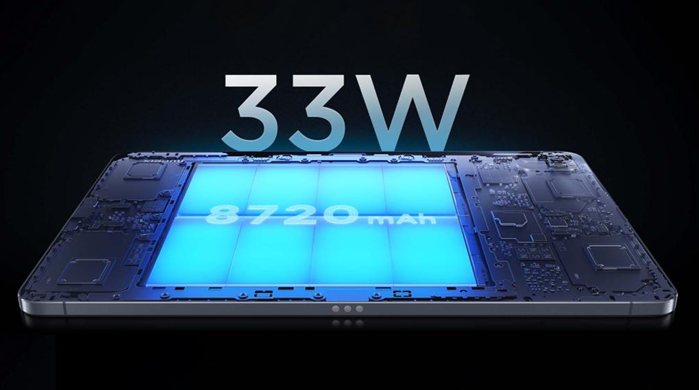 Dung lượng pin 8720 mAh - Xiaomi Mi Pad 5