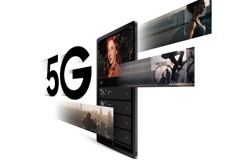 Galaxy Tab S7 FE   Hỗ trợ mạng 5G tốc độ cao