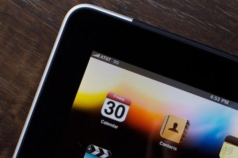 iPad 2 chạy trên mạng 3G của AT&T.