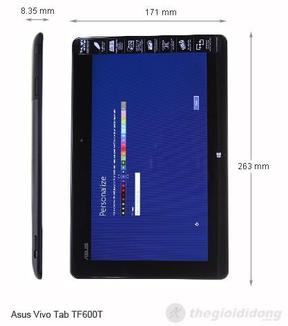 Kích thước của Asus Vivo Tab TF600T