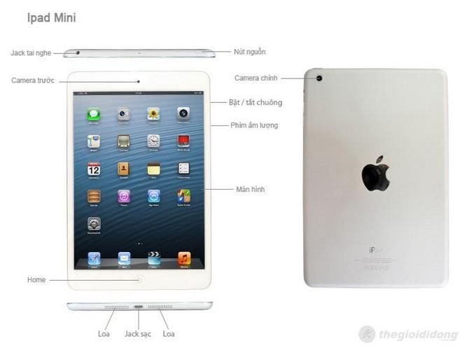 Các phím chức năng của iPad mini