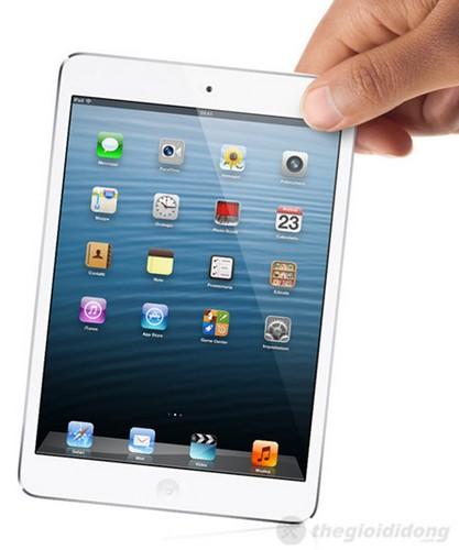 Hai mép viền cực mỏng giúp iPad mini Wi-Fi có kích thước tốt
