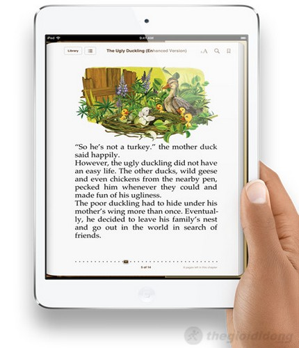 ipad mini cho hình ảnh sắc nét