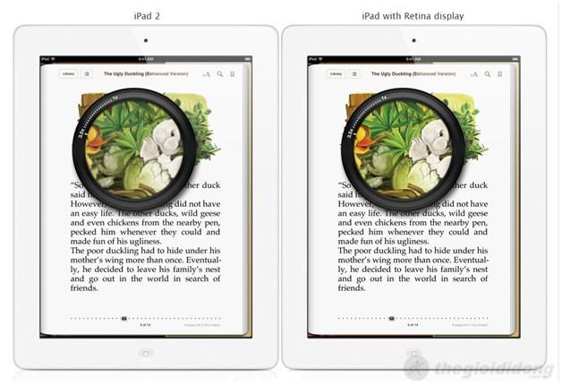 So sánh với iPad 2, iPad 4  giành phần thắng tuyệt đối
