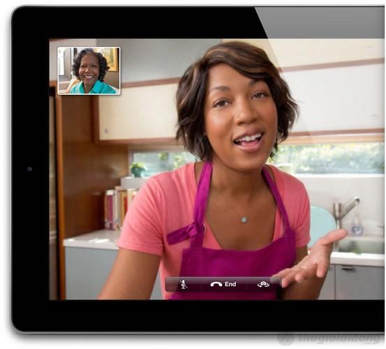 iPad 4 Wifi có Camera FaceTime HD sắc nét