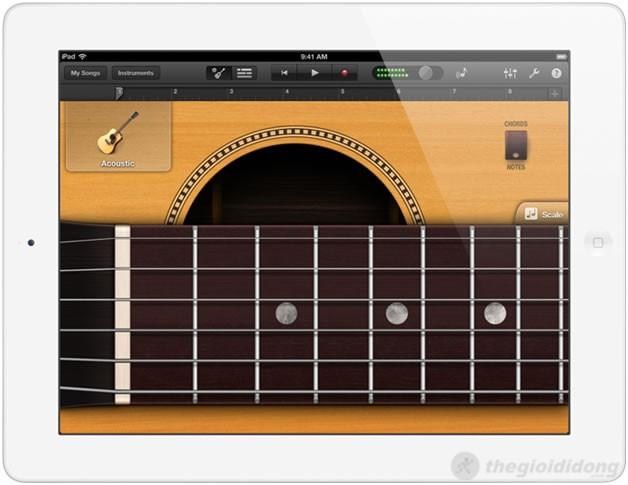 Ứng dụng chơi đàn và nhiều ứng dụng hay nữa cũng có trên ipad 4
