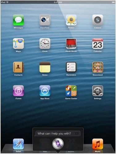 Trợ lý ảo thông minh Siri trên ipad 4