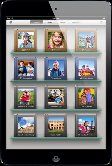 Giao diện iPhotos trên iPad mini
