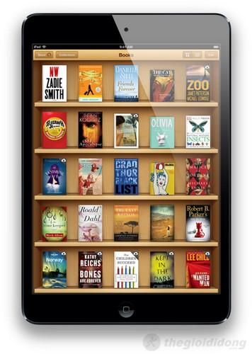 Giao diện iBooks trên iPad mini