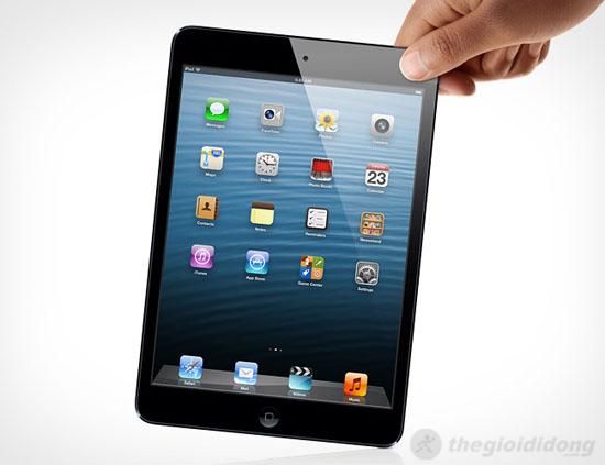 iPad mini rất nhẹ, cầm rất thoải mái