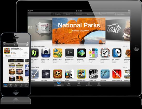 App Store với số ứng dụng phong phú