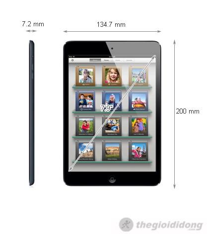 Ảnh kích thước iPad Mini Wifi Cellular 16Gb