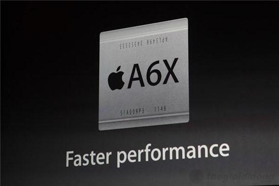 iPad 4 Wifi Cellular 32Gb có chip A6X lõi kép với tốc độ nhanh hơn gấp 2 lần so với vi xử lý A5X