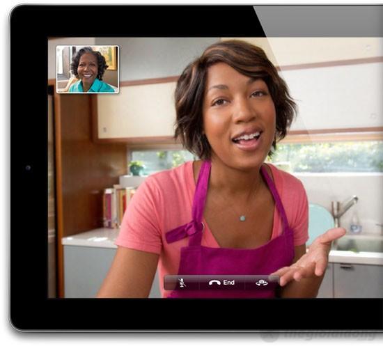 Mang người thân đến gần bạn hơn qua đàm thoại videocall trên iPad 4 Wifi Cellular 64Gb
