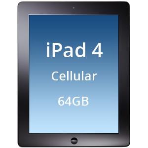 Máy tính bảng iPad 4 Retina Wi-Fi + Cellular 64GB