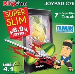 KingCom Joypad C75 được trang bị hệ điều hành Android 4.1