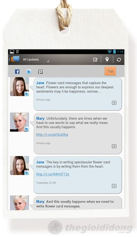 Asus ME172 với ứng dụng Buddy Buzz – truy cập nhiều mạng xã hội trong 1
