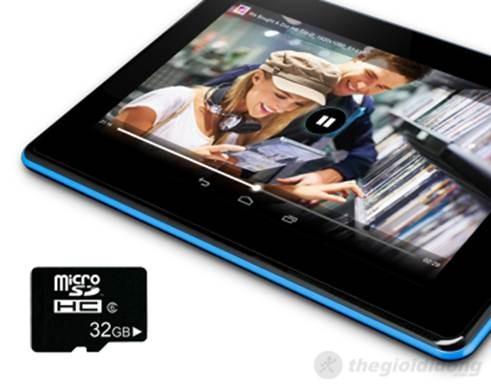 Acer Iconia B1-A71 cho  phép mở rộng bộ nhớ tới 32GB, tha hồ giải trí