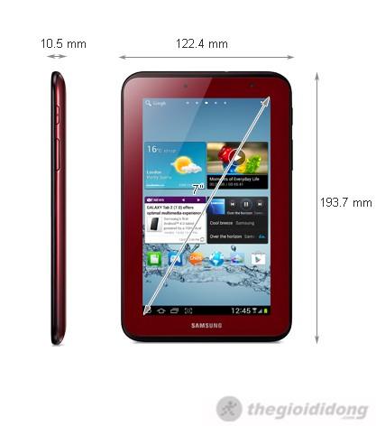 Ảnh kích thước Samsung Galaxy Tab 2 7 Wifi