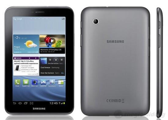 Galaxy Tab 2 7.0 vơi thiết kế nhỏ gọn và chắc chắn