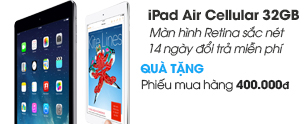 iPad Air Cellular 32GB/Wifi/3G