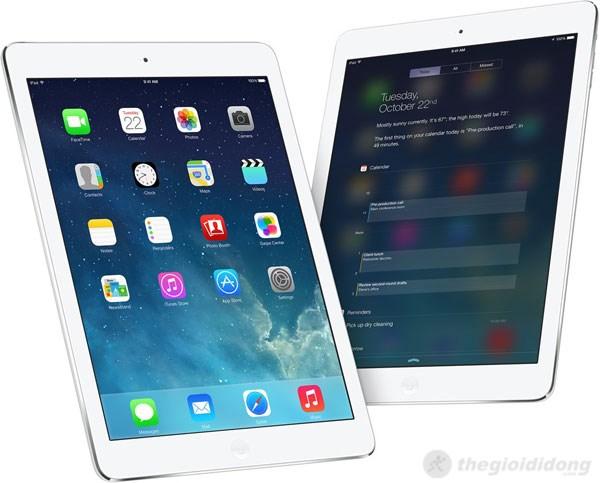 iPad Air cài đặt HĐH iOS 7 với giao diện phẳng đẹp mắt và tiện dụng
