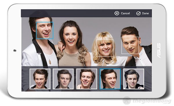 Camera của Asus Memo Pad 8 thông minh có thể chỉnh sửa khuôn mặt dễ dàng
