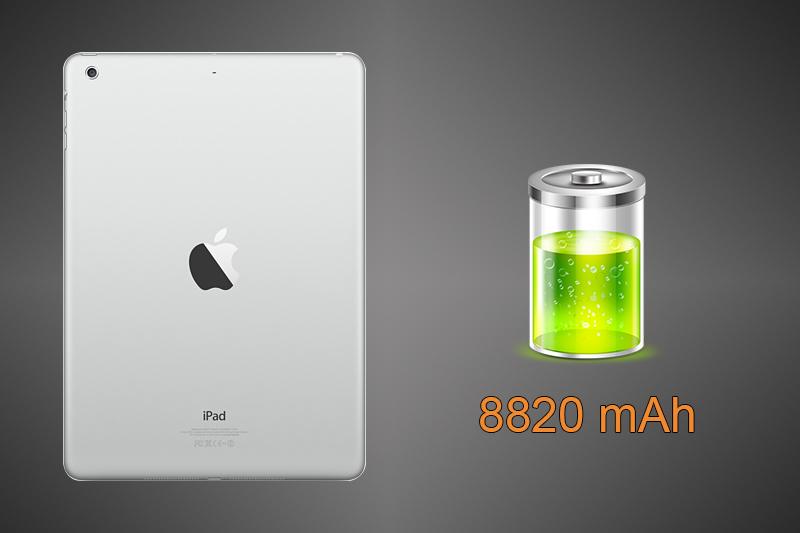 Máy có dung lượng pin 8820 mAh lớn mang lại thời gian sử dụng tốt hơn tuỳ thuộc vào nhu cầu và cách sử dụng của bạn