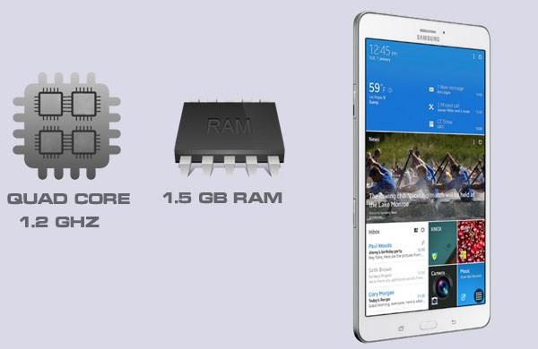 Galaxy Tab 4 8.0 lõi tứ 1,2GHz, RAM 1,5GB