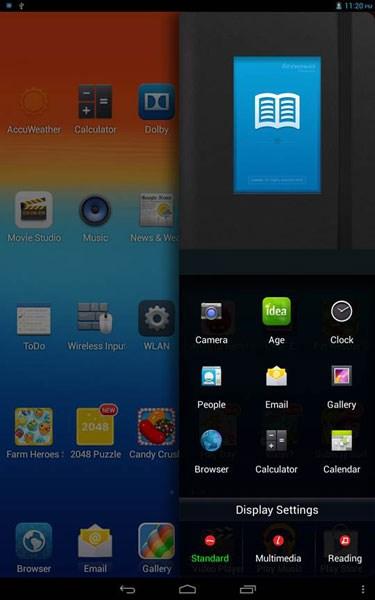 Lenovo IdeaTab A7600 giao diện Lenovo UI