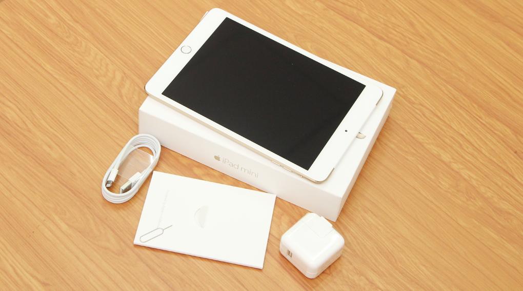 Bộ sản phẩm chuẩn của iPad Mini 3 Retina Cellular 16GB