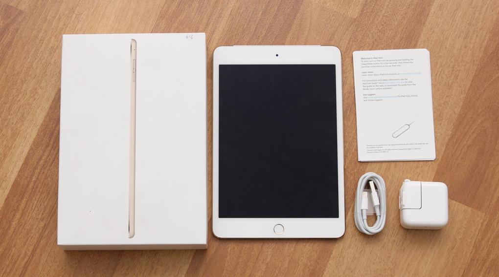 Bộ sản phẩm chuẩn của iPad Mini 4 Wifi Cellular 64GB